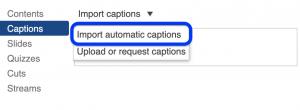 Panoptosse automaatselt loodud subtiitrite importimine